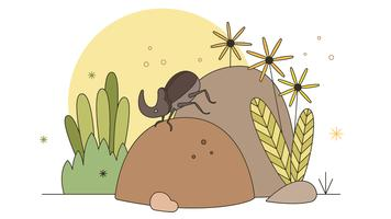 Dung Beetle Vector