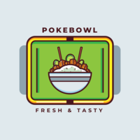 Hawaiischer Poke Bowl-Vektor