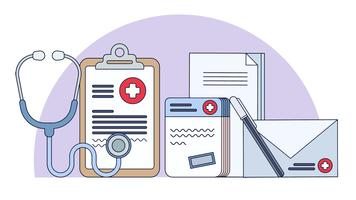 Vetor de estudos médicos