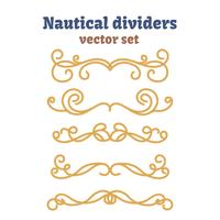 Dividers set. Nautical ropes. Decorative vector knots.