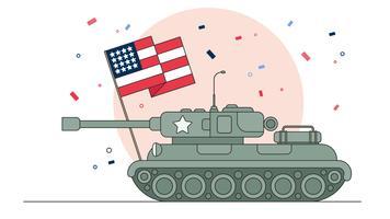 Militärparade-Vektor