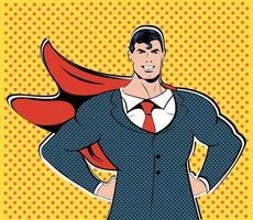 Businessman superhero work flight business concept  vector