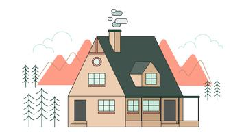 Mountain Home Vector