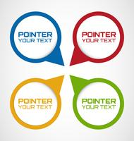 Set of Rounded Web pointers