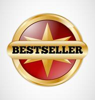 Bestseller badge, illustratin gráfico vector