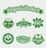 Biologische product tags, grafische illustratin vector