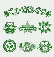 Organic Product Tags, graphic illustratin vector