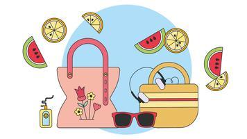 Vetor de sacos de verão
