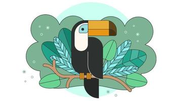 Toucan Jungle Vector
