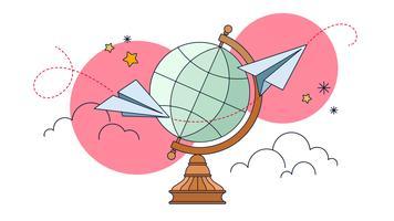 Vecteur de planification de voyage