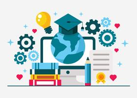 Utbytesstudent Global Education Concept Vector