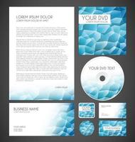 Modern Crystal Graphic Business Layout, graphic illustratin vector