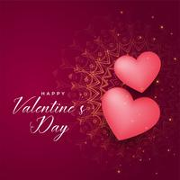 happy valentines day decorative hearts background