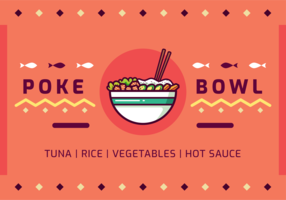 Vecteur poke bowl