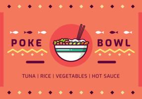 Poke bowl Vector