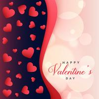 beautiful hearts background valentines day greeting