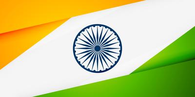 indian flag in geometric style banner