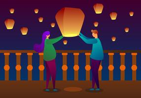 Awesome Taiwan Sky Lantern Vectors