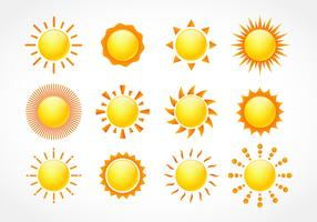 Set di clipart di sole vettore