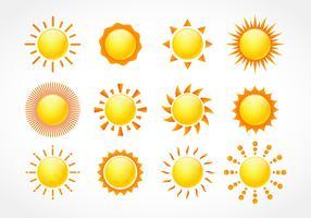 Conjunto de clipart de sol