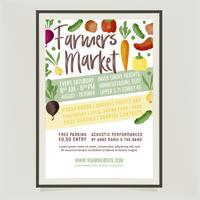 Vector Farmers Market Poster Template