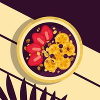 Färg Acai Bowl Vector