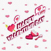 illustration of info graphic valentine icon concept