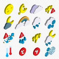 illustration du concept d'icônes météo graphique info