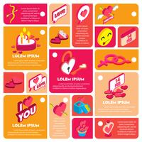 illustratie van info grafische Valentijn pictogram concept