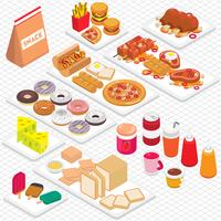 illustration of info graphic junk food concept