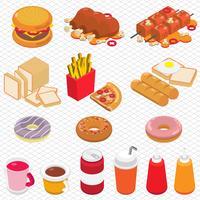 Ilustración del concepto de información gráfica comida chatarra