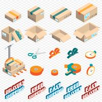illustration of info graphic delivery icon concept