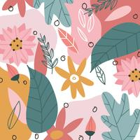 Super Colorful Floral Background