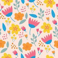 Estampado de flores de colores