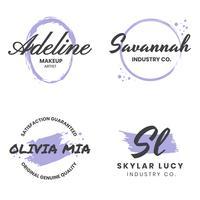 Logo de vecteur rétro vintage féminin