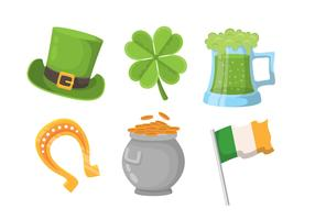 Saint patricks jour clipart ensemble