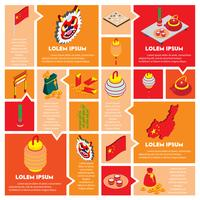 illustration of info graphic chinese object icons set concept