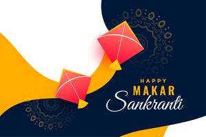 festival background for makar sankranti with flying kites