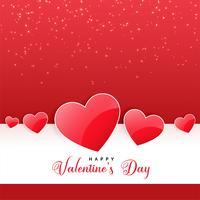 glänzender Herzhintergrund für reizenden Valentinstag