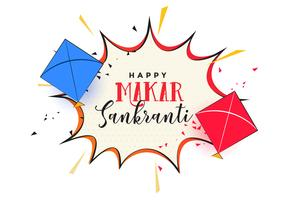 makar sankrati abstract background with kites