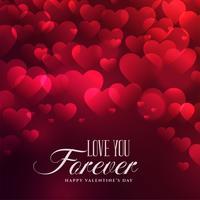 schöne Herzen Hintergrund zum Valentinstag