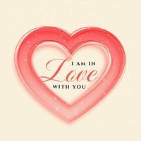 elegant hearts frame valentines day background