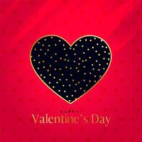 premium hjärta design på röd bakgrund