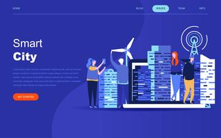 Modern flat design concept of Smart City