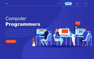 Modernt plattdesign koncept för Datorprogrammerare