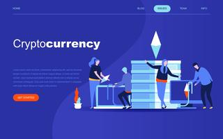 Concept de design plat moderne de Cryptocurrency Exchange