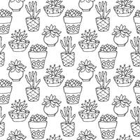Kaktus sömlöst mönster