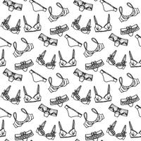 Lingerie seamless pattern vector