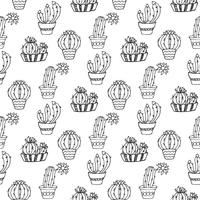 Cactus seamless pattern illustration