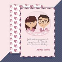 Vector Perfect Match Valentine's Day Card